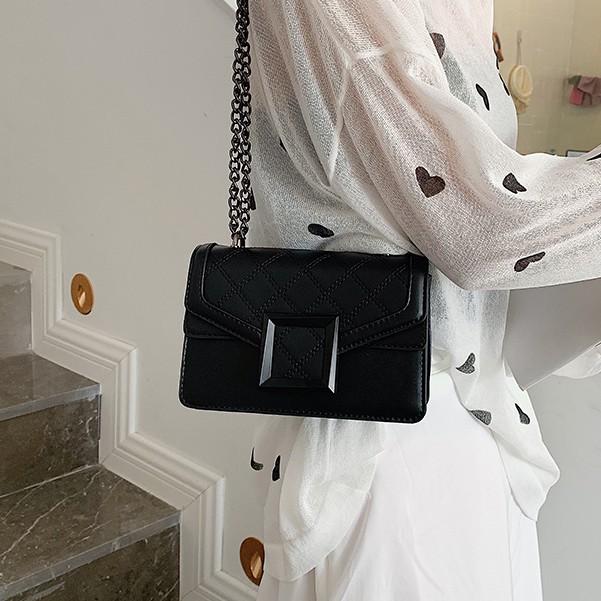 Túi xách nữ khóa vuông đeo chéo phong cách sang trọng KVUONG02 + hình tự chụp