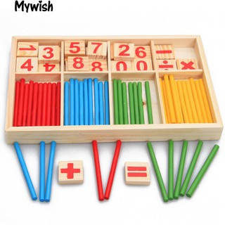 👶🏼Pre-School Wooden Intelligence Stick Early Learning Counting Toy
