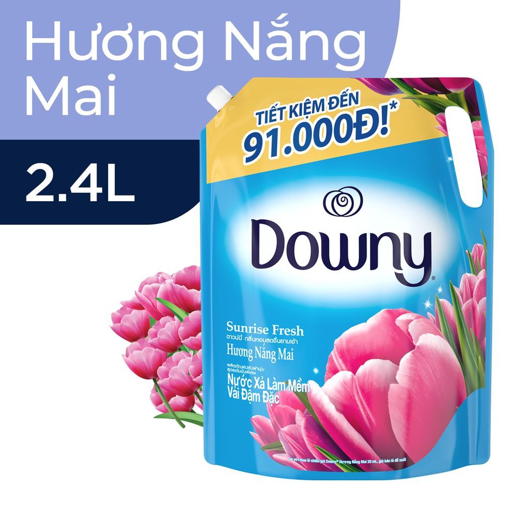 Nước xả vải Downy Túi 2.4L Hương Nước Hoa (mới)