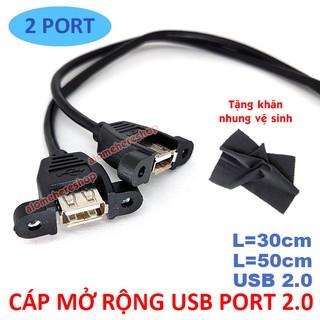 Cáp mở rộng USB 2.0 2 Cổng Chân Cắm 9 PIN Bổ Sung Cổng USB Cho Phía Trước Thùng Máy PC Case