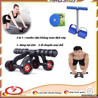 đẩy tập bụng, giảm eo bụng cao cấp kèm dây kéo lưng, Dây tập thể dục tập cơ bụng tummy - tập bụng thumbnail