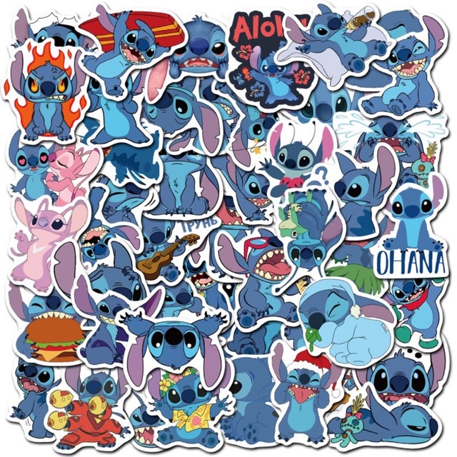 10 miếng dán cute hình stick trang trí chống thấm nước