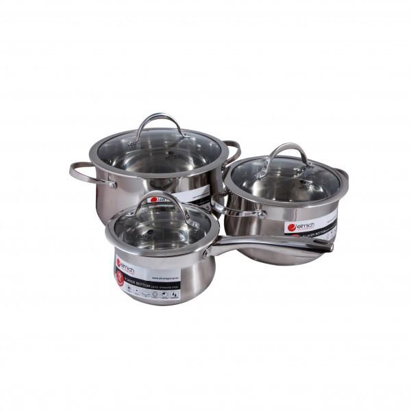 Bộ nồi và quánh Elmich inox 304 Ibiza 3 chiếc cỡ 16,20,24cm EL0124 2350124 [Nhập khẩu nguyên chiếc C - 3575386 , 1148005277 , 322_1148005277 , 2249000 , Bo-noi-va-quanh-Elmich-inox-304-Ibiza-3-chiec-co-162024cm-EL0124-2350124-Nhap-khau-nguyen-chiec-C-322_1148005277 , shopee.vn , Bộ nồi và quánh Elmich inox 304 Ibiza 3 chiếc cỡ 16,20,24cm EL0124 235012