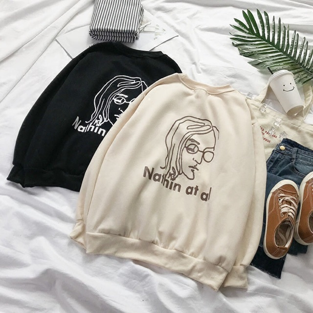 Order Áo Sweatshirt Nỉ in Nathin