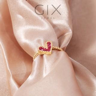 Nhẫn bạc kiểu trái tim đính hột đỏ sang trọng Gix Jewel SPGN12 thumbnail