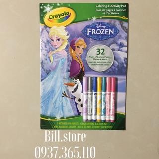 Tập tô màu kèm bút lông chủ đề Frozen Crayola