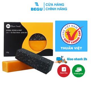 Xà Phòng Baresoul Giảm Mụn Lưng Và Mờ Thâm Herbal Scrub & Soap 100g - Begu thumbnail