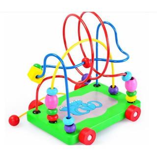 Hạt mê cung xe kéo đồ chơi gỗ – đồ chơi giáo dục