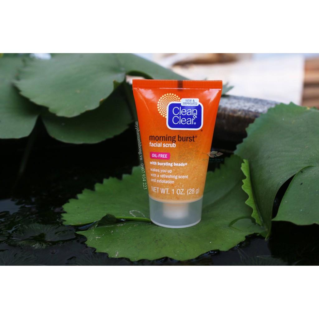 Tẩy Tế Bào Chết Mặt Clean & Clear Morning Burst Facial Scrub 28g - 2423358 , 1318855523 , 322_1318855523 , 95000 , Tay-Te-Bao-Chet-Mat-Clean-Clear-Morning-Burst-Facial-Scrub-28g-322_1318855523 , shopee.vn , Tẩy Tế Bào Chết Mặt Clean & Clear Morning Burst Facial Scrub 28g