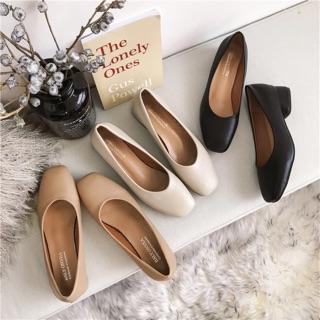 Giày nữ/ Cao gót nữ mũi vuông