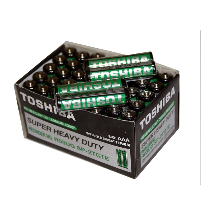 Bộ 40 viên pin đũa, nhí AAA Toshiba