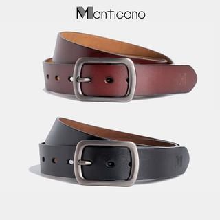 Thắt lưng nam Manticano da bò nguyên miếng cam kết da thật 100%, dây nịt da nam Cao Cấp