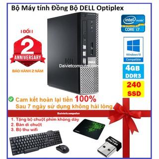 Case máy tính để bàn đồng bộ HP CPU i7 4790 - RAM 4GB - SSD 240GB - SSD 120GB