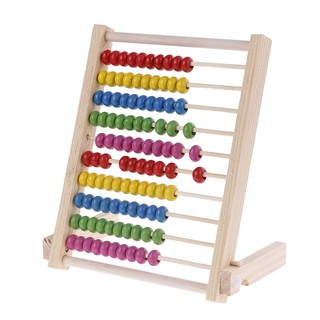 ☃SHL☃ Kids wooden abacus toys small educational calculator handcrafted [LT]