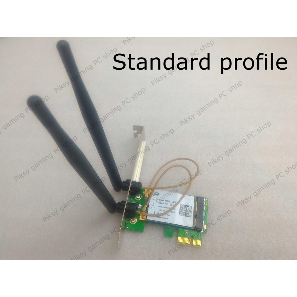 Card mạng Intel Wi-Fi Link 5100 kèm adapter 2 antenna 5dBi