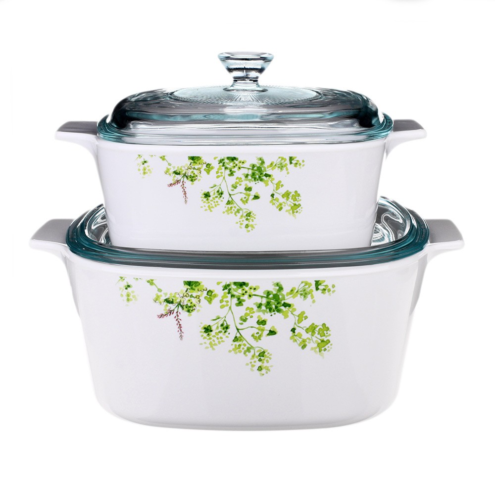 Bộ 2 nồi thuỷ tinh Pháp vuông Corningware A-131-PVG Provence Garden - 3533110 , 765180207 , 322_765180207 , 2430000 , Bo-2-noi-thuy-tinh-Phap-vuong-Corningware-A-131-PVG-Provence-Garden-322_765180207 , shopee.vn , Bộ 2 nồi thuỷ tinh Pháp vuông Corningware A-131-PVG Provence Garden