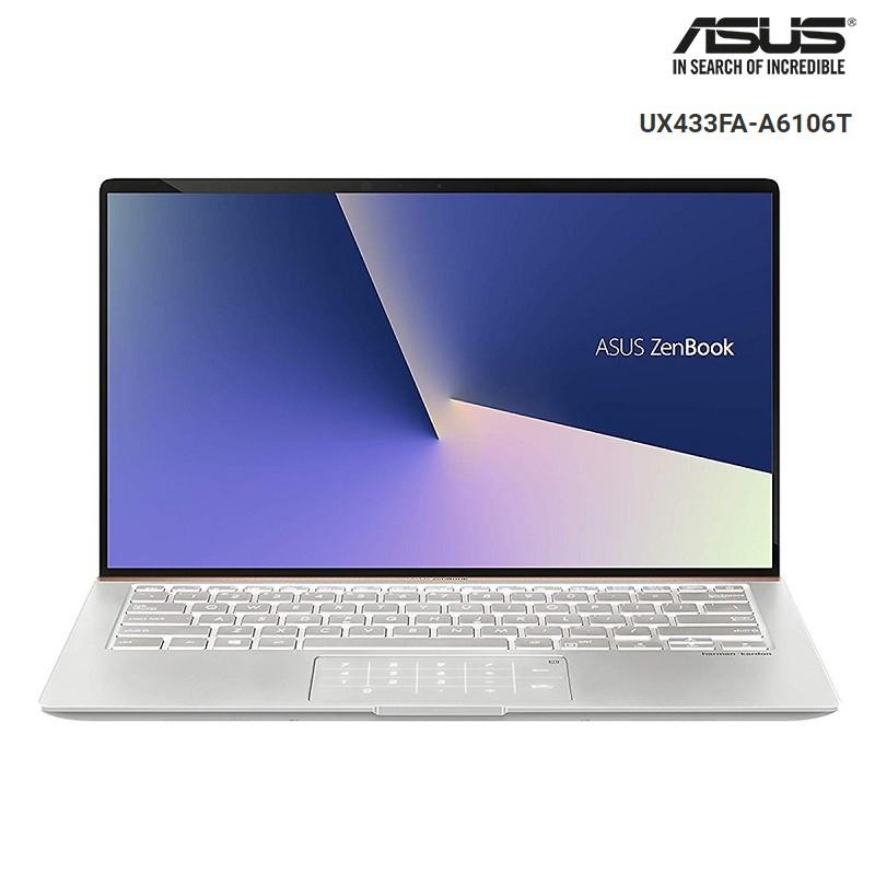 Laptop Asus Zenbook 14 UX433FA-A6106T Core i5-8265U, Win10,Numpad (14 FHD)- Chính hãng