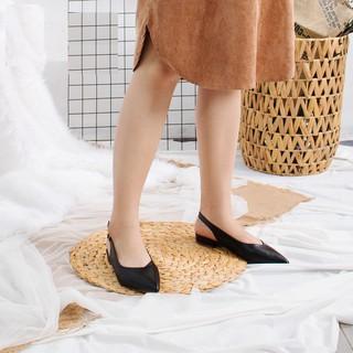 Giày nữ đế bệt mũi nhọn mẫu siêu hot 2019 Đen - Sunnie shoes thumbnail