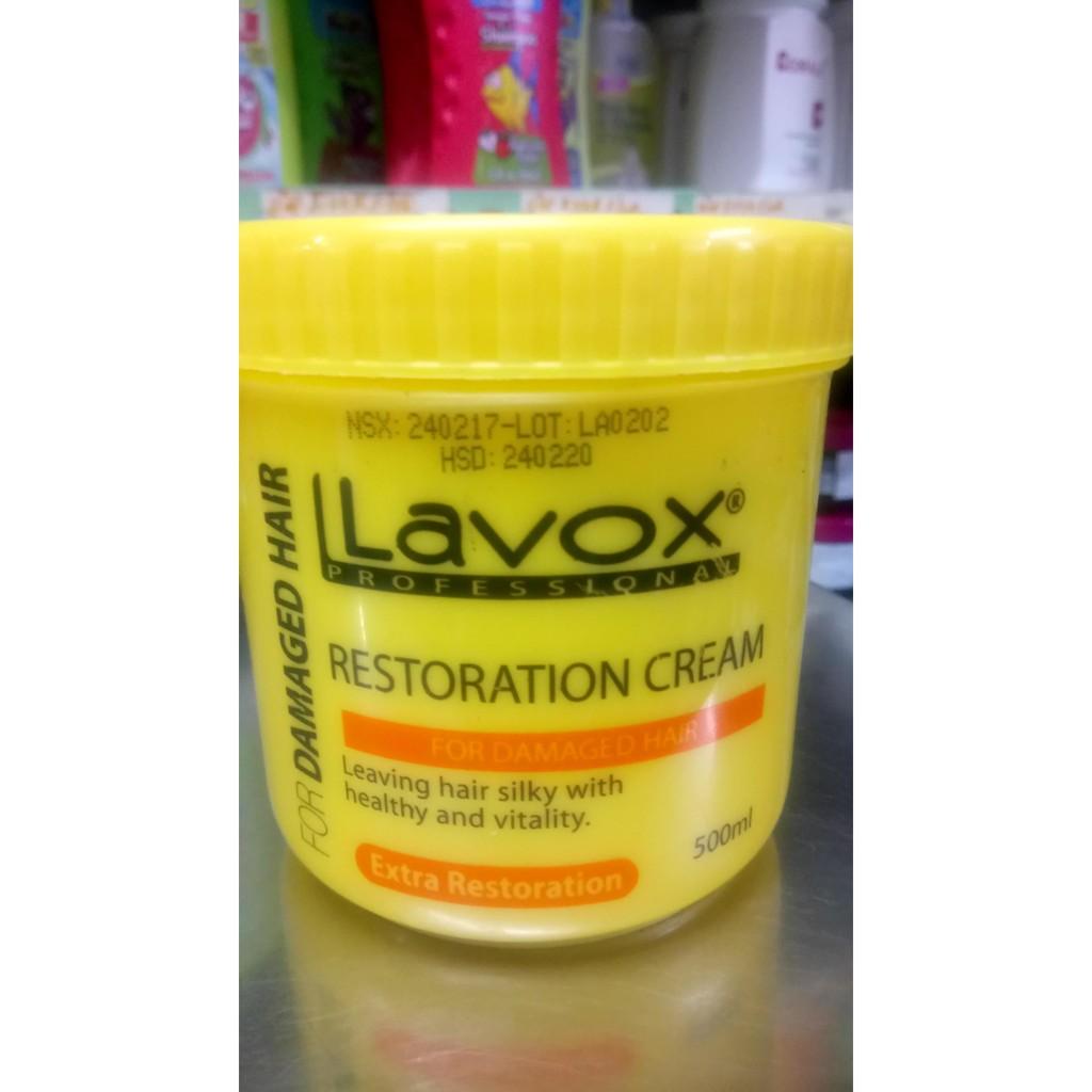 Kem hấp dầu Lavox 500ml Phục Hồi Tóc Khô Xơ, Hư Tổn