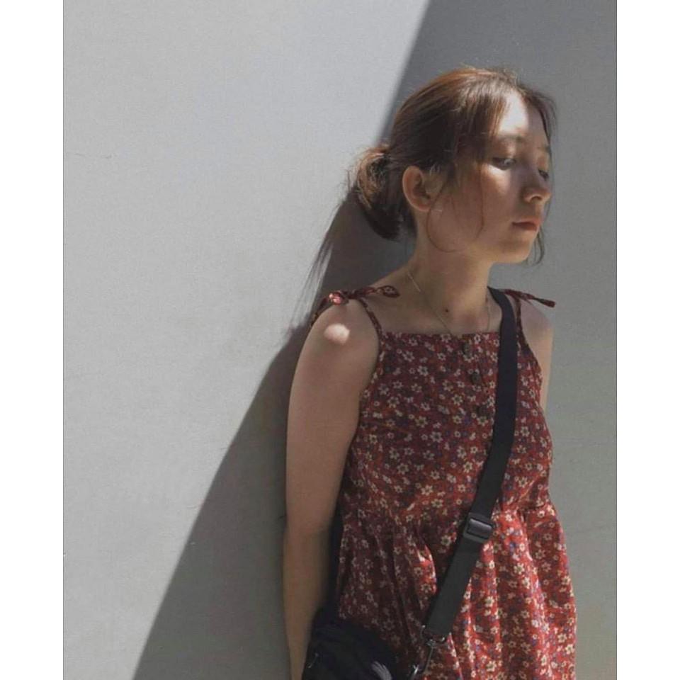 Mặc gì đẹp: Thanh lịch với Đầm Hoa Nhí 2 Dây Nữ 🦋 Váy Dây Buộc Hoa Nhỏ 3 Màu 🦋
