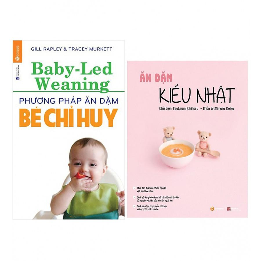 Sách - Combo Phương Pháp Ăn Dặm Bé Chỉ Huy (Baby Led-Weaning) (Tái Bản) + Ăn Dặm Kiểu Nhật (Tái Bản)