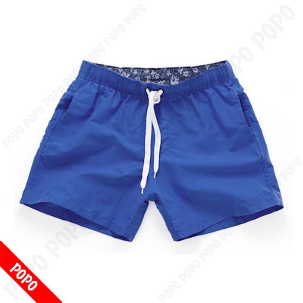 Quần bơi nam Short Blue quần đi bơi mau khô, thoáng khí chất liệu cao cấp POPO Collection