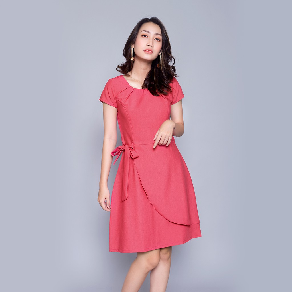 [Mã WA1211HOT giảm 12% đơn từ 99k] Đầm suông công sở thanh lịch thời trang Eden chất liệu mát không nhăn dễ mặc - D303