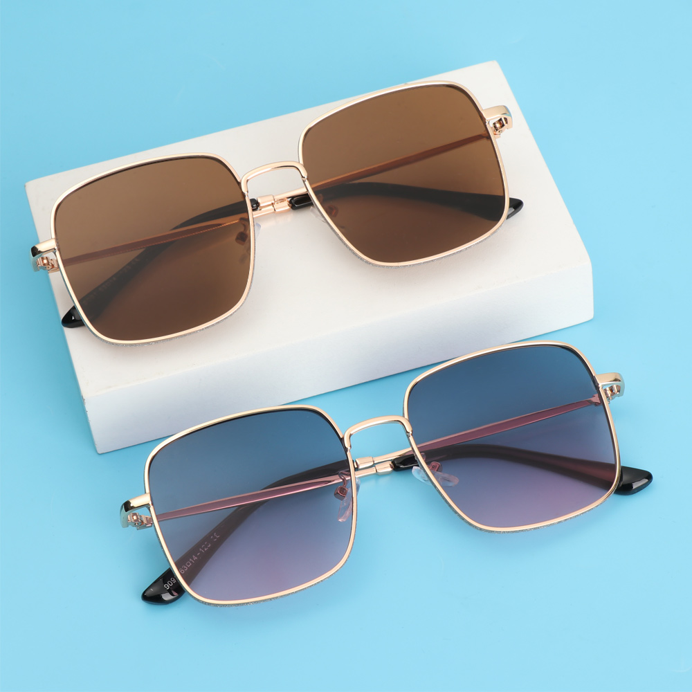 ❤LANSEL❤ Fashion Anti-Blue Light Glasses Vintage Eye Protection Glitter Eyeglasses Women Portable Oversized Computer Square Ultra Light Frame