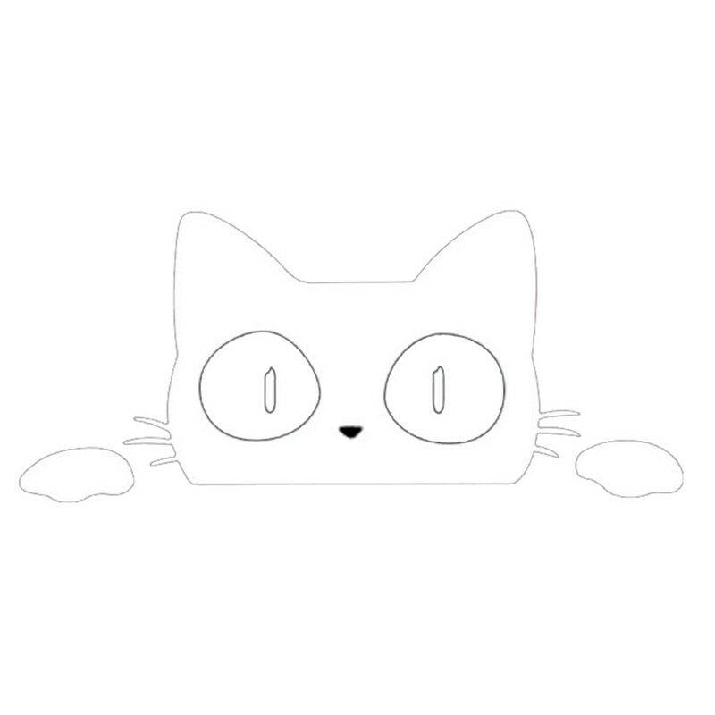 Giấy Dán Hình Chú Mèo Vui Nhộn Cho Xe Hơi / Laptop