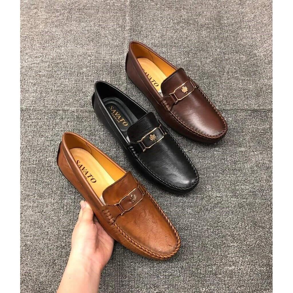 Giày Lười Da Bò Thời Trang Công Sở Trẻ Đẹp Mẫu Hot 2019- lazini