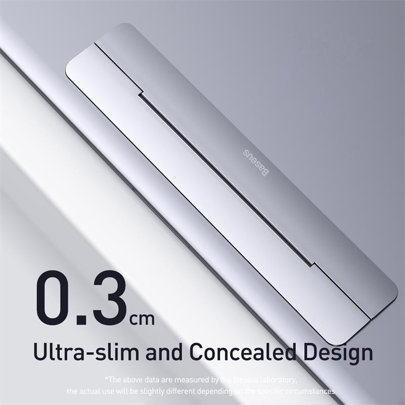 Giá đỡ đế máy tính xách tay Baseus bằng hợp kim gấp gọn cho Macbook Pro Air 12-17 Inch