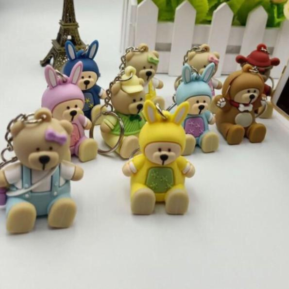 Kệ Móc Chìa Khoá Điện Thoại Các Chú Gấu Đáng Yêu - Giao Hình Ngẫu Nhiên