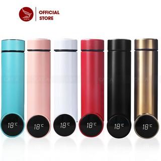Bình giữ nhiệt Inox 2 lớp Cao Cấp thông minh có Đèn LED hiển thị nhiệt độ - Nhỏ gọn, sang trọng [ Dung tích 500 ML ]