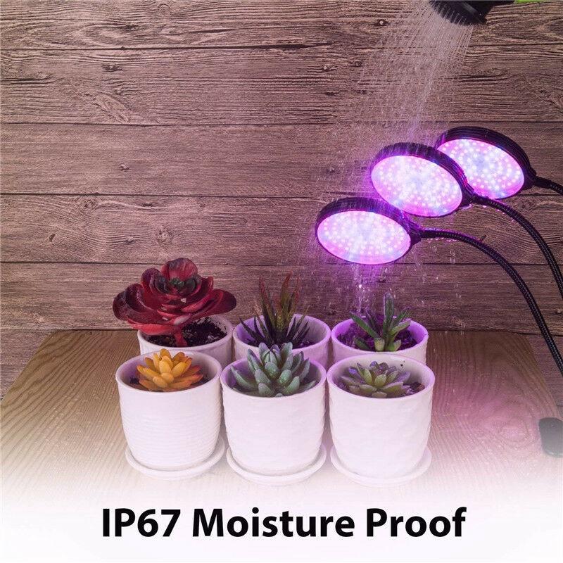 45W 78LED 3 đầu Phát triển ánh sáng USB Định thời gian có thể điều chỉnh độ sáng Cây trồng phát triển đèn kẹp đèn thủy canh