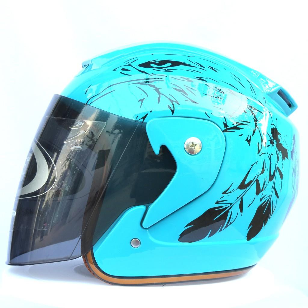 Mũ bảo hiểm fullface NTMAX viền đồng tem đai bàng (nhiều màu)