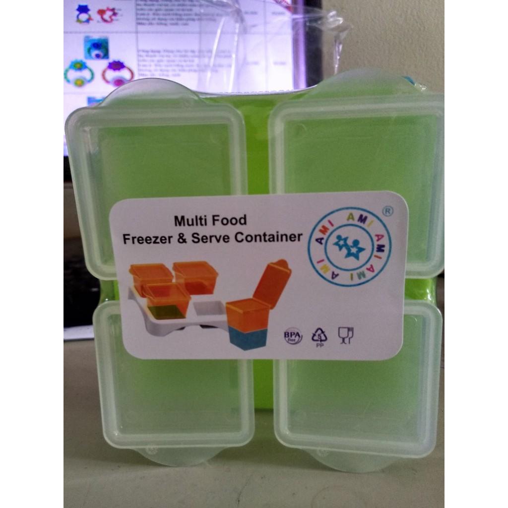 Khay 4 ngăn trữ đông đồ ăn Ami 55505 (80ml/ngăn) Thái Lan