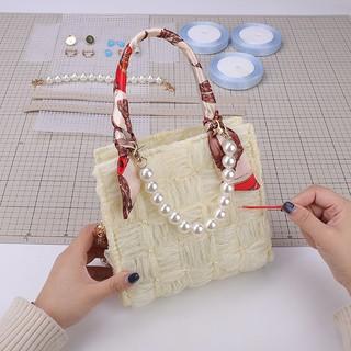 Túi ruy băng dệt tay nữ gói nguyên liệu tự làm khâu thủ công Tặng bạn gái một chiếc đeo vai sành điệuFF thumbnail