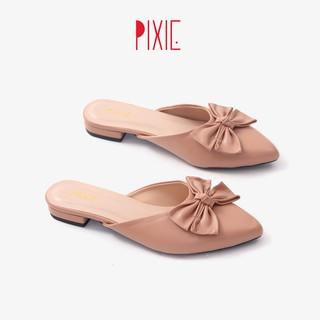 [FORM NHỎ]Dép Sục Bệt Mũi Nhọn Gắn Nơ Pixie X456