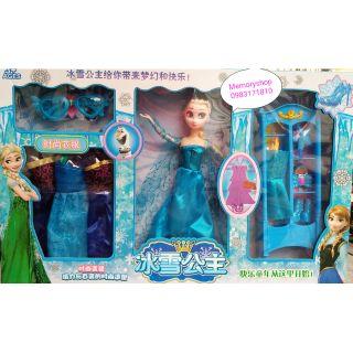 Bộ búp bê Elsa thay váy kèm phụ kiện
