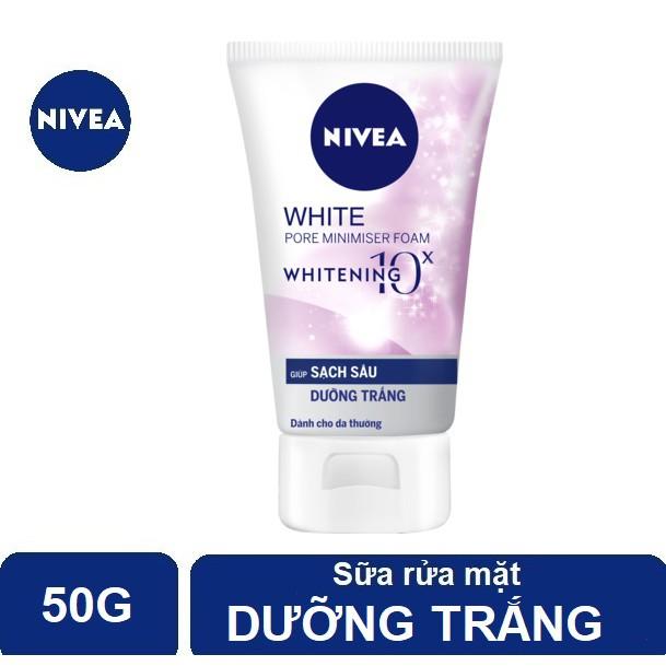 Sữa rửa mặt Nivea giúp trắng da & se khít lỗ chân lông (50g) - 86723