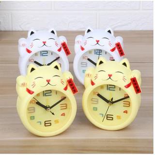 Đồng hồ báo thức MÈO THẦN TÀI cute may mắn,dễ thương