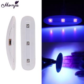 Đèn LED UV Monja sấy khô sơn móng tay đa năng cổng USB 3W chất lượng cao thumbnail
