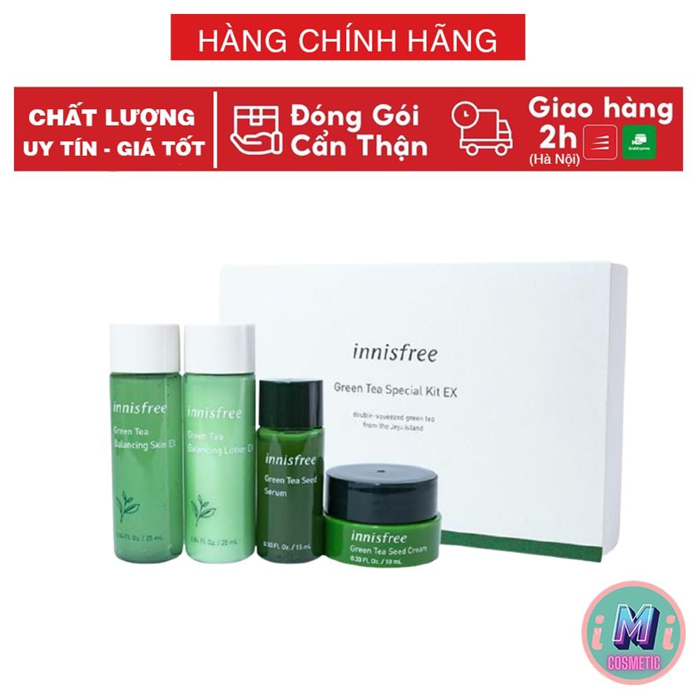 Set dưỡng da, Set dưỡng da mini Innisfree  Green Tea gồm 4 sản phẩm chuẩn AUTH