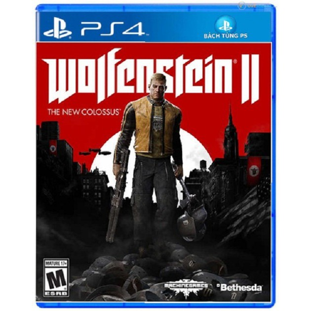 Đĩa Game PS4 :Wolfenstein II: The New Colossus