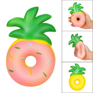 Squishy Doughnut Pineapple Rising Squeeze Charm Kawaii Toy Stress Reliever Toys