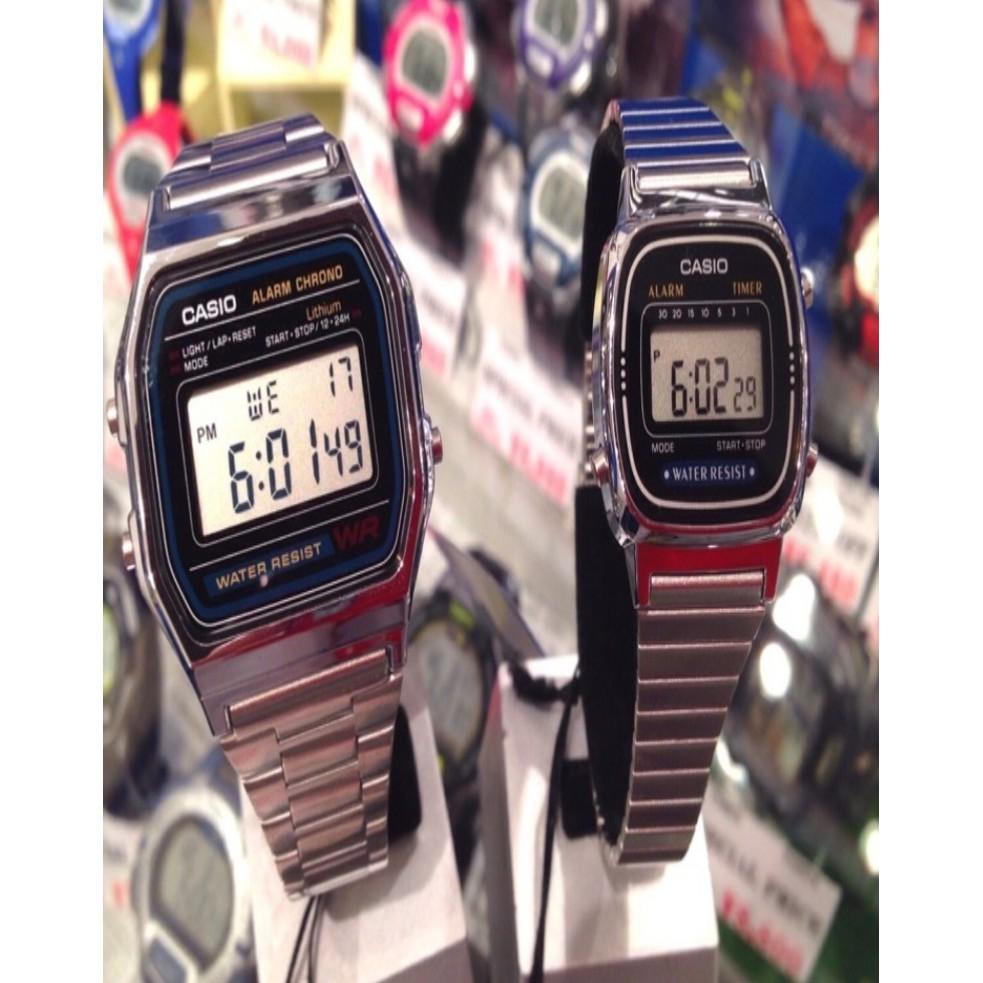 Đồng hồ Casio La670 (nữ) Casio A158 (nam) chính hãng - 3585408 , 932869817 , 322_932869817 , 330000 , Dong-ho-Casio-La670-nu-Casio-A158-nam-chinh-hang-322_932869817 , shopee.vn , Đồng hồ Casio La670 (nữ) Casio A158 (nam) chính hãng