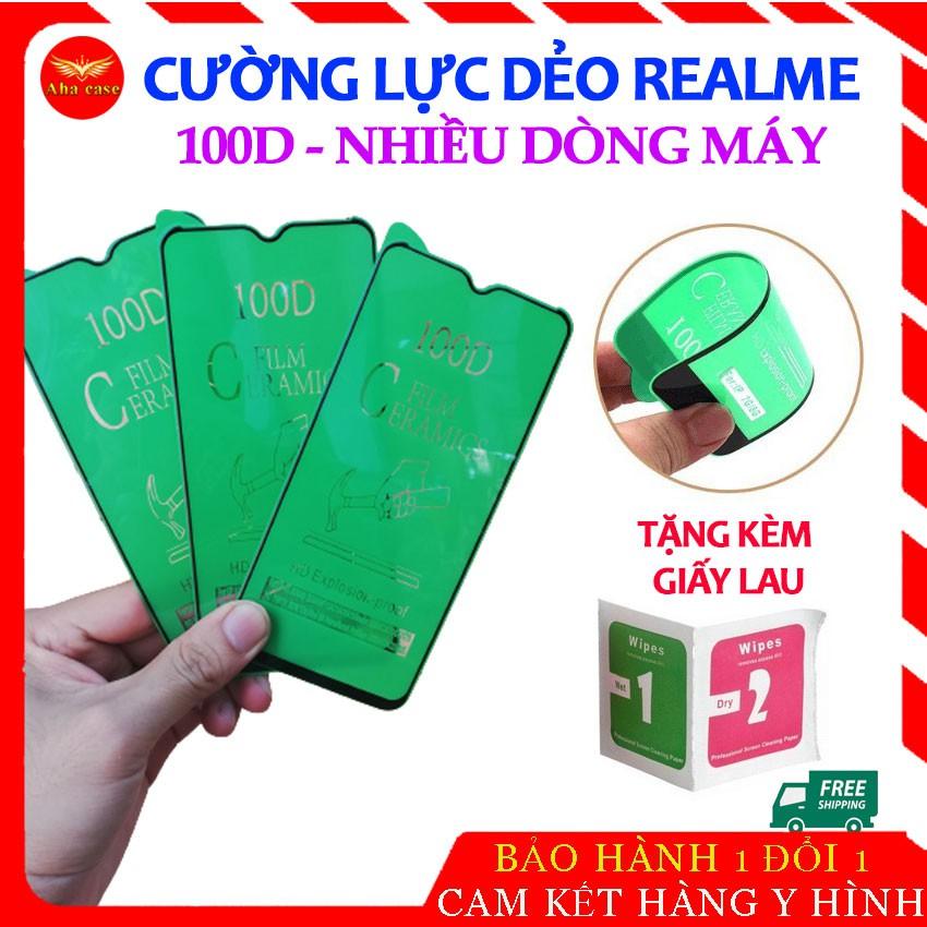 [Mua 5 cái giá sỉ] Cường lực Realme Dẻo 100D cho Realme 2/3/5, Realme_c1/ c2/ c3 Realme5, 5 Pro, Realme6/6i Full Màn