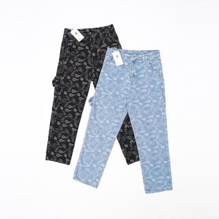 Hình ảnh Quần Jeans Suông Paileys unisex N7 Basic nam nữ ống rộng oversize phong cách Hàn Quốc ulzzang-6