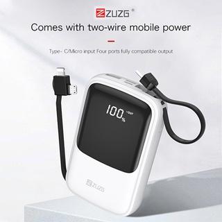 Sạc dự phòng 10000mah đa năng có dây ra iphone micro type c J33 chính hãng ZUZG thumbnail