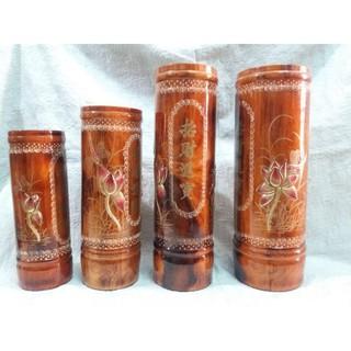 Ống đựng nhang gỗ chạm hoa sen có 4 size thumbnail